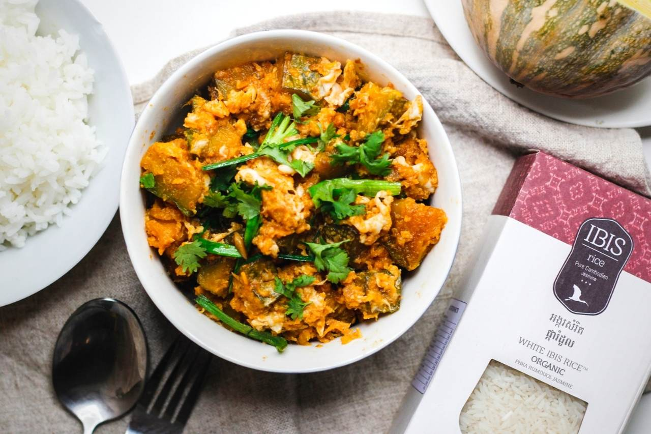 Khmer Ginger Chicken and IBIS Rice