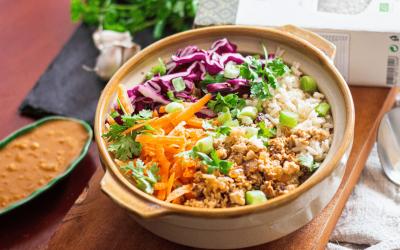 Minced Tofu with Brown IBIS Rice