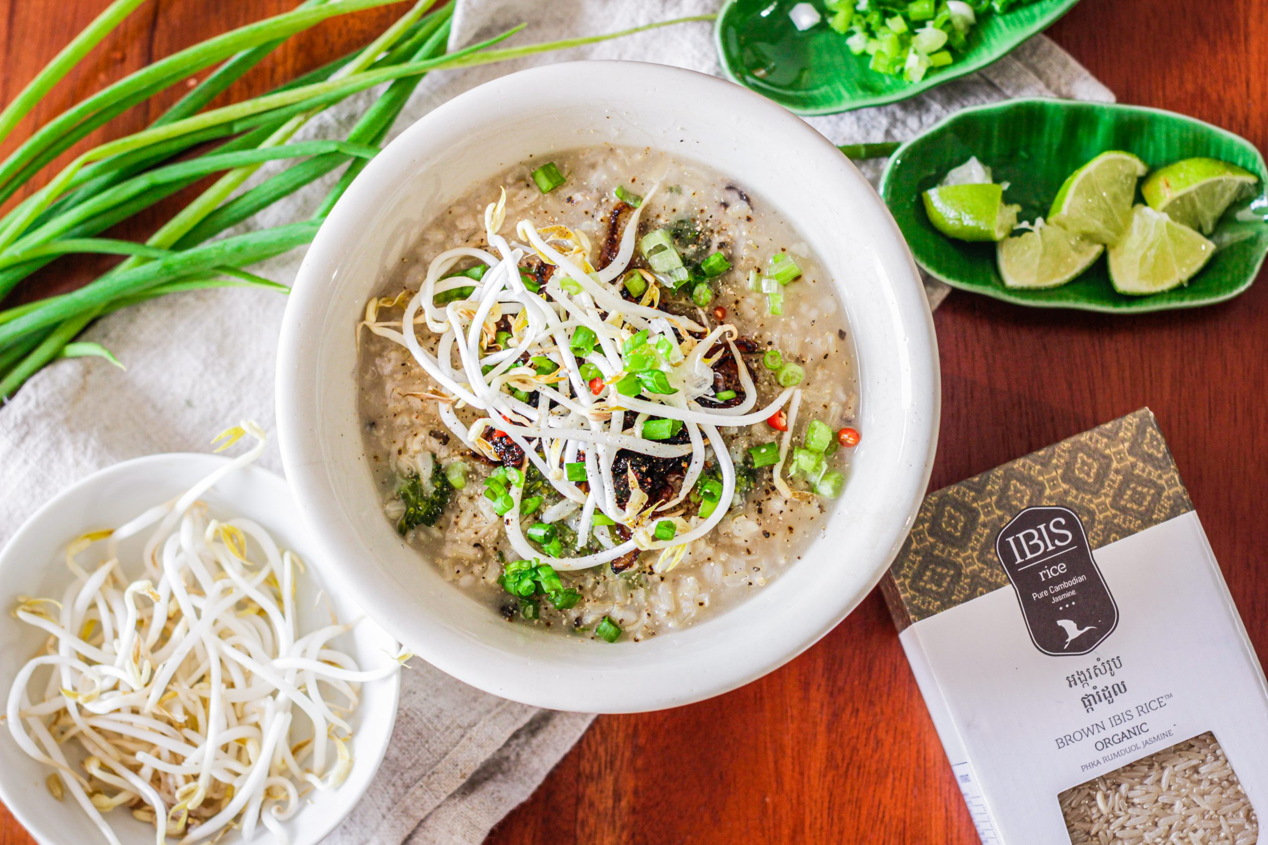 Vegan Borbor (Cambodian Rice Porridge)