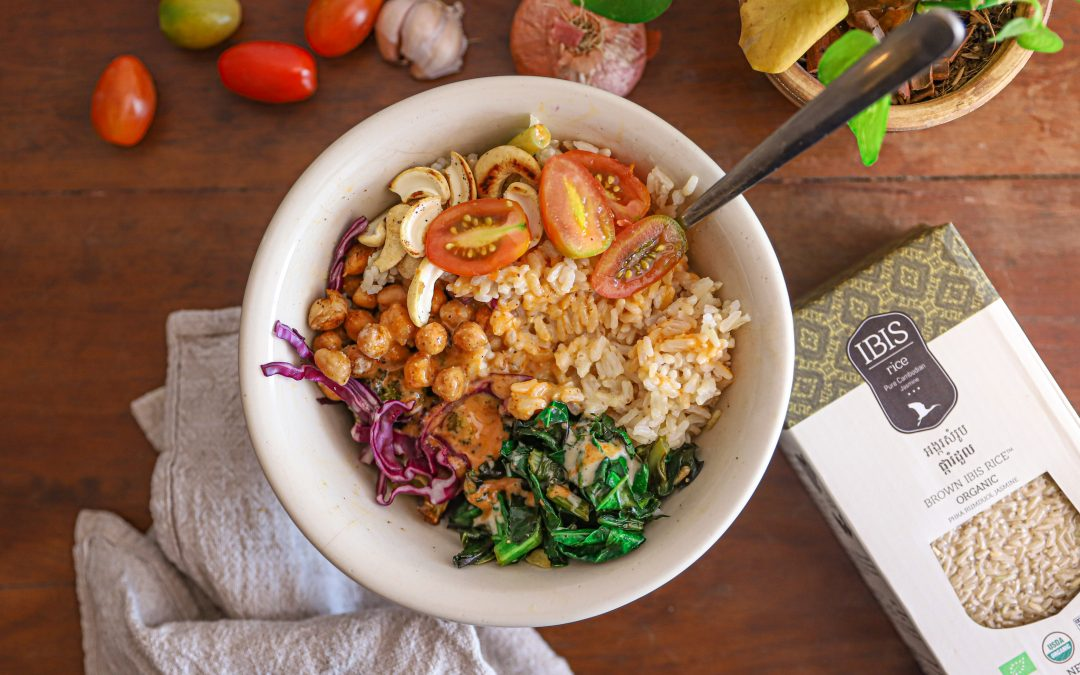 Brown Rice Bowl with Roasted Chickpeas