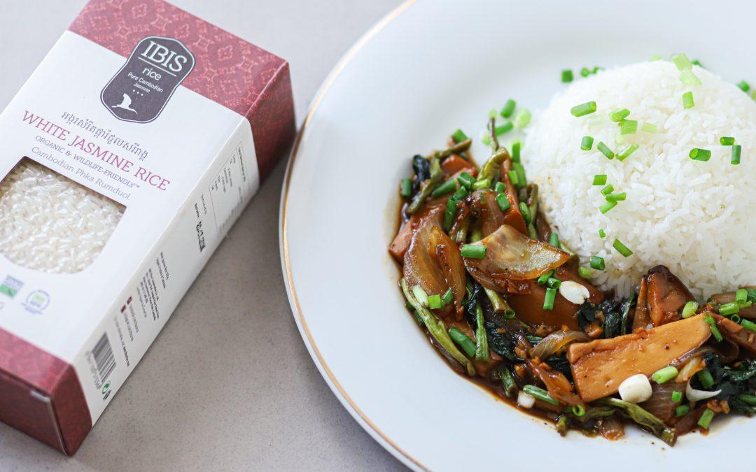 Teriyaki Mushroom Stir Fry with White Rice
